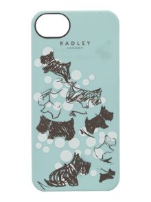 Cherry blossom dog blue iphone case