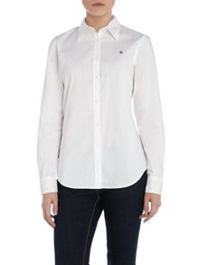 Long sleeved shirt with contrast hem