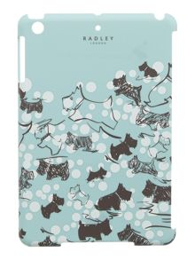 Cherry blossom dog blue mini ipad cover