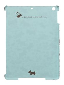 Cherry blossom dog blue ipad cover