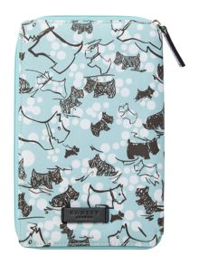 Cherry blossom dog blue zip kindle cover