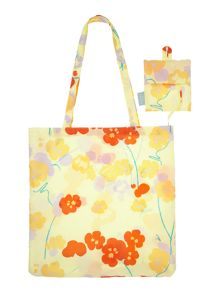 Butterfield yellow foldaway tote bag