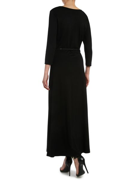 Lauren Ralph Lauren 3/4 sleeved jersey maxi dress