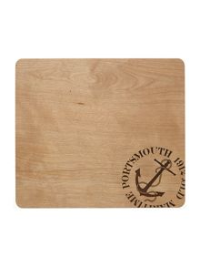 WOODEN STAMP PLACEMAT S/2