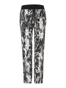 Relaxed fit snakeskin trousers