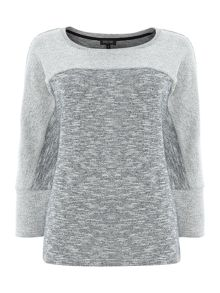 Relaxed marl knit jumper
