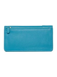 Pocket bag blue large flap over matinee purse