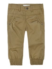 Girls twill cuff trousers