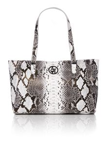 Grey snake tote bag