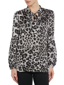 Yesla print long sleeve top