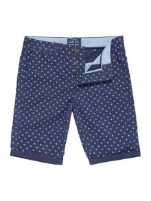 Criminal Geo Print Chino Shorts
