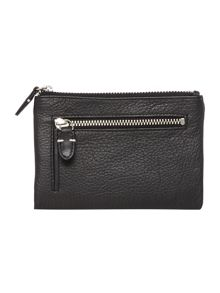 Tetbury black medium zip around purse