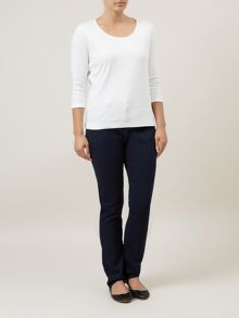 Textured Twill Classic Jeans Petite