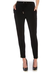 Slouchy style zip trousers