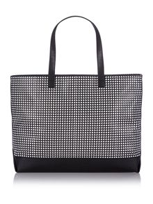 Black and white print large tote bag