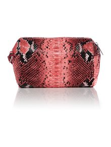 Red snake cross body bag