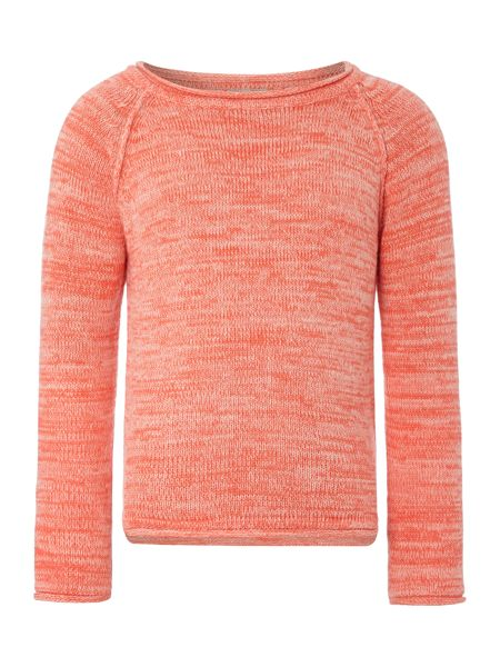 name it Girls space dye crew jumper