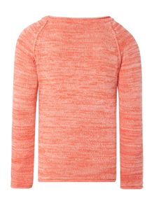 Girls space dye crew jumper
