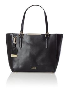 Black large saffiano shopper