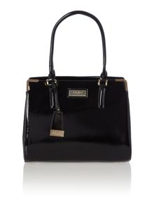 Black saffiano work tote bag