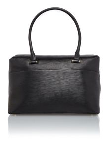 Austen black shoulder tote bag