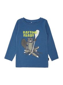 Boys long sleeved rafting ready t-shirt