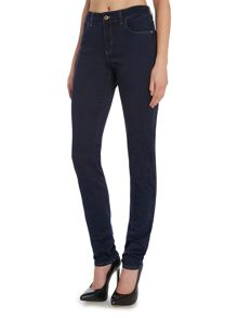 J18 High Waist slim contrast stitch