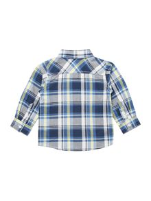 Boys long sleeved multi check shirt