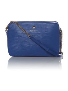 Austen blue chain cross body bag