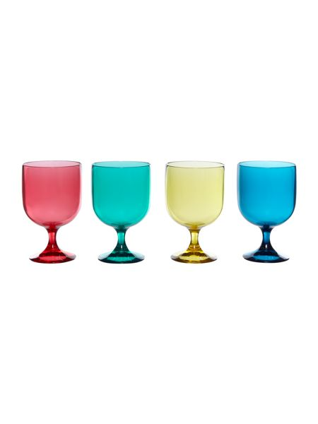 Linea Bright acrylic stacking wine glass set of 4