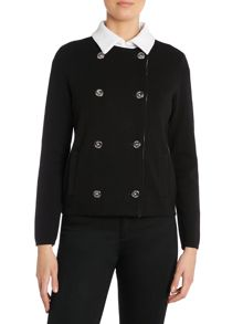 Long sleeved double breasted cardigan