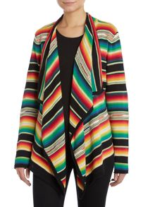 Long sleeved draped front cardigan