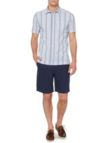 Parker Seersucker Striped Short Sleeve Shirt