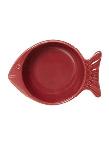 SMALL FISH BOWL RED