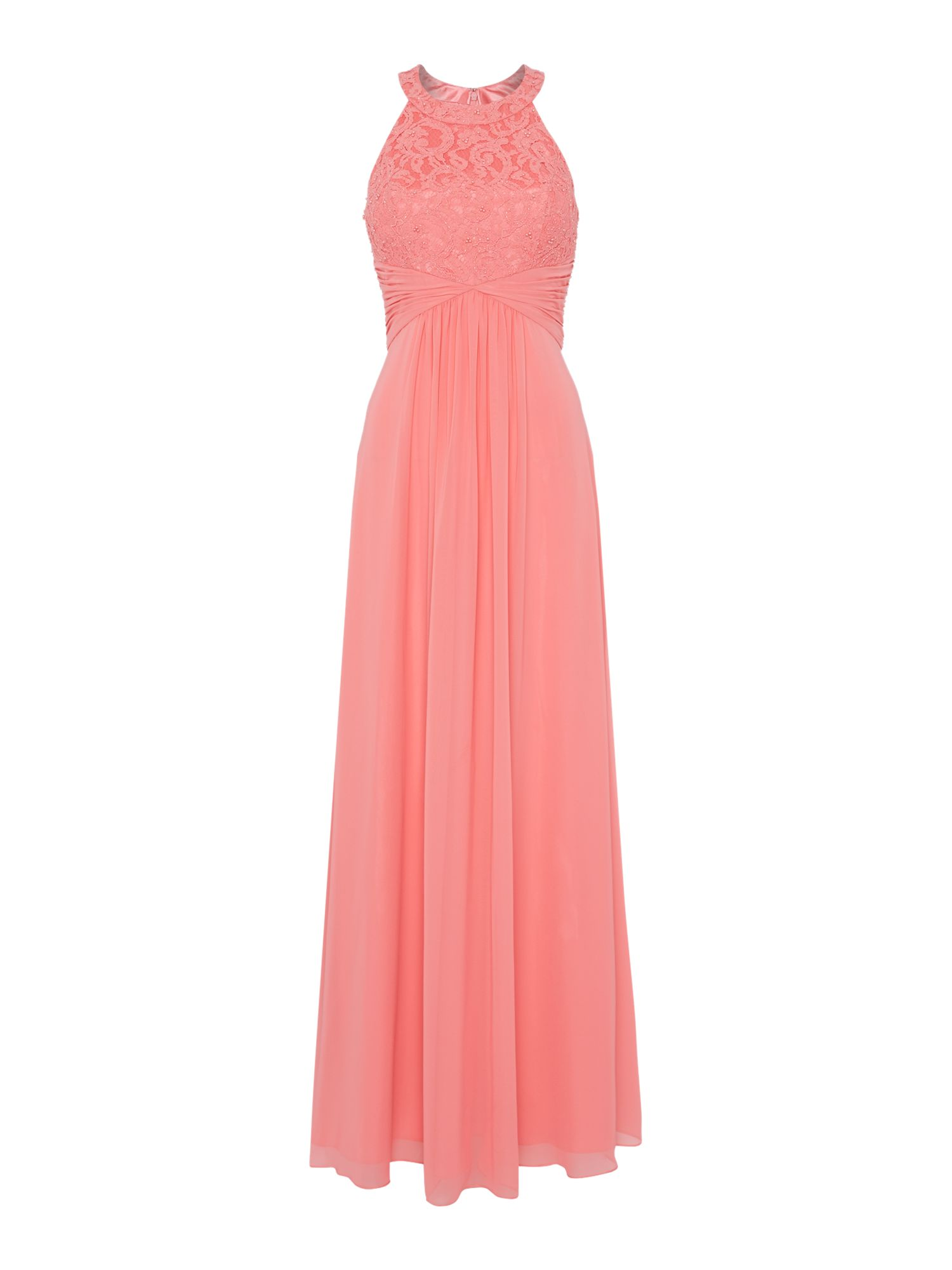 Eliza j halter dress with beaded bodice for Quality classic house of fraser