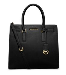 Dillon black large tote bag