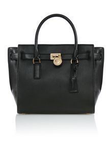 Hamilton traveller black large tote bag