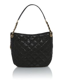 Susannah lock black shoulder bag
