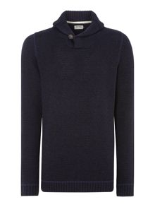 Mens shawl neck jumper
