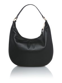 Michael Kors Rhea zip black shoulder hobo bag