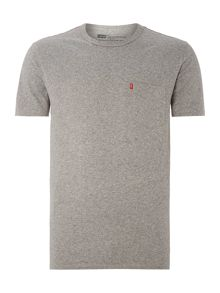 Pocket front crew neck t shirt