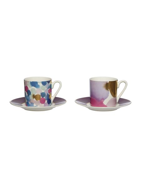 Pied a Terre Diffusion Set Of 2 Espresso Cup &Saucer