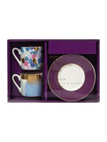Diffusion Set Of 2 Espresso Cup &Saucer