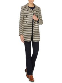 Stripe mac coat