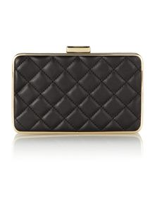 Elsie black quilt box clutch bag