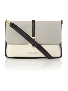 Oro multi-coloured flap over shoulder bag