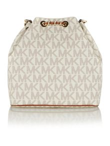 Frankie neutral logo chain hobo bag