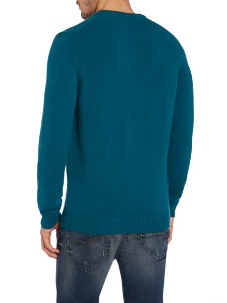 Lyle and Scott V Neck Lambswool Jumper