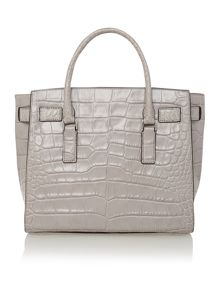 Hamilton Traveller brown large croc tote bag