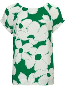 Phase Eight Frances floral crepe blouse